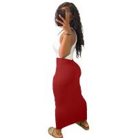 Casual Sleeveless Stitching Hole Maxi Dress
