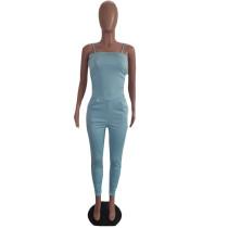 Solid Color Straps Off Shoulder Jumpsuit