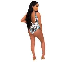 Sexy Printed Sleeveless Swimsuit