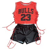 Two-Piece  Sleeveless Summer Sports Suit
