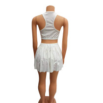 Tennis Sports Vest and Culottes Shorts