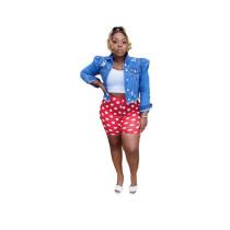 Printed Polka Dot Shorts