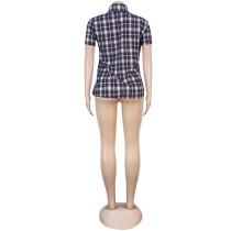 Short Sleeve Grid T-shirt