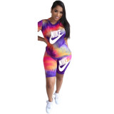Casual Letter Print Sports Two Piece Set