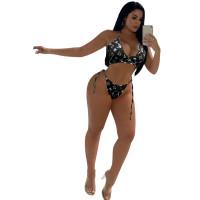 Sexy Print Bikini Set 2 Pcs