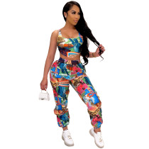 Statue of Liberty Printed Vest and Trousers