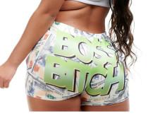 Ladies Shorts Pattern Printed Yoga Shorts