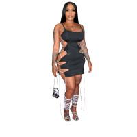 Lace-up Cut-Out Adjusted Bandage Sexy Dress