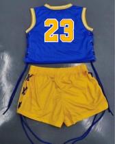 Two Piece Sports Printed Eyelets Bandage Shorts Set (Available 27th May)