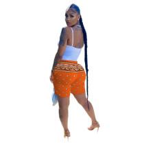 Casual Printed Pocket Beach Short Pants