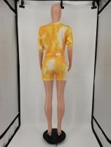 Casual Tie-dye Shorts Set