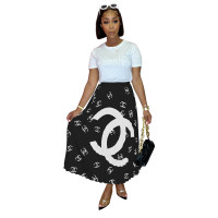 Casual Print Long Skirts For Womans