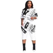 Casual Print 2 Piece Women Short Set