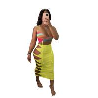 Hollow Knotted Long Beach Skirt