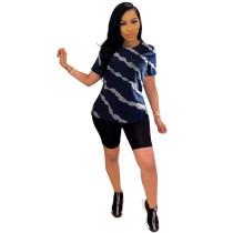 Wave Clothes Print Blouse