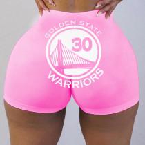 Womens Tight Pattern Printed Yoga Shorts