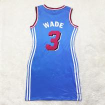 Casual Sleeveless Double-sided Pattern Printed Webbing Basketball Mini Dress