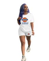Casual Sports Heat transfer 2 Piece Shorts Set Women