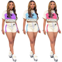 Casual Hoodie Print Sports Nike Sets Women