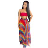 Casual Offset Printing Two Piece Pant Set Clothing