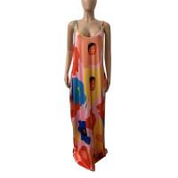 Sexy Straps V Neck Maxi Dress