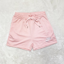 Brand Embroidered Pattern Double Pocket Rope Shorts