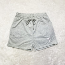 Grey Brand Embroidered Pattern Double Pocket Rope Shorts