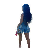 Summer Ripped Washed Fringed Shorts Jean