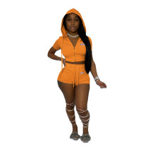 Casual Hoodie Printed Letter Brand 2 Piece Set