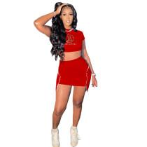 Casual Printed Nightclub Skirt Set