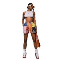 Summer Print Beach Shorts with Pockets