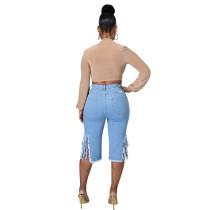Fringed Hole Jeans