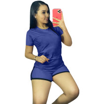 Solid Color Sports Women Outfits Two Piece Set Clothing