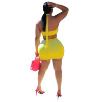 Deep V-neck Backless Halter Sexy Dress