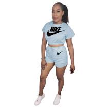 Casual Printed Women Tracksuit 2 Piece Shorts Set Women Designer Clothing