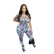 Sleeveless V Neck Bodycon Jumpsuit For Women Sexy