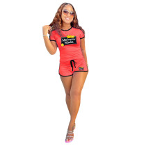 Casual Sports Shorts Two Piece Outfits for Women
