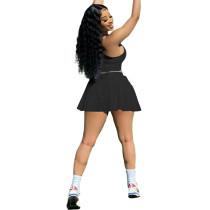 Casual Tennis Sports Vest Culottes Suit
