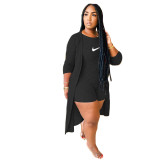 2 Piece Set Soft Ribbed Letter Embroidery Romper with Cloak