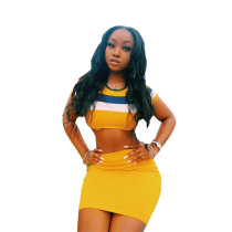 Casual Printed Mini 2 Piece Skirt Set Clothing