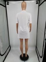 Women Printed Short Sleeve Club Dress