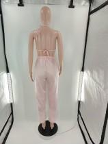 Autumn Three Piece Loungewear Satin Pajamas Set with No Padded Bra