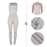 Two Piece Women Clothing Set Vest and Trousers