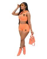 Casual Zipper Hooded Sportswear Women's Two-Piece Suit