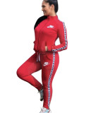 Casual Printed Dyeing Sports Two Piece Pant Set For Women 2021 Autumn