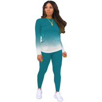 Gradient Design Tracksuit Sets Womens clothing Two Piece Fashion