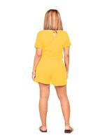 Summer Short Sleeve Printed Romper
