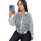 Casual Printed Sequin Tracksuit Jacket