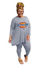 New Arrivals Plus Size Clothes Fat Ladies Printed Pant Set For Women