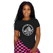 Simple Summer Offset Brand T-shirt